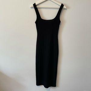 Topshop Square Neck Midi Dress